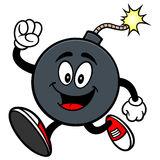 Bomb Mascot Running Royalty Free Stock Images
