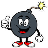 Bomb Mascot with Thumbs Up Stock Photos