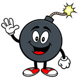 Bomb Mascot Waving Stock Images