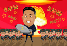 Bomb on North Korea Royalty Free Stock Images