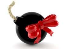 Bomb with ribbon Stock Images