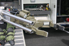 Bomb robot 2. Military or police robot used to safely move or detonate bombs and mines Stock Photography