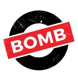 Bomb rubber stamp Royalty Free Stock Image