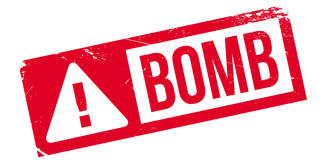 Bomb rubber stamp Royalty Free Stock Photos
