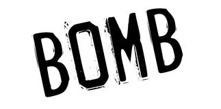 Bomb rubber stamp Stock Photo