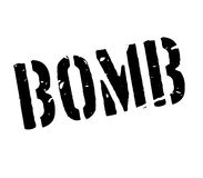 Bomb rubber stamp Stock Images