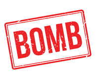 Bomb rubber stamp Royalty Free Stock Images