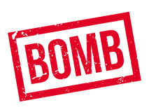 Bomb rubber stamp Stock Image