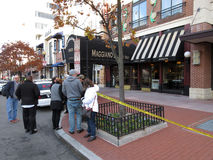 Bomb Scare at Maggiano`s Restaurant stock images