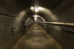 Bomb shelter blast tunnel Stock Image