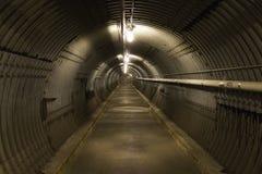 Bomb shelter blast tunnel Stock Image