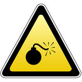 Bomb sign Royalty Free Stock Photo