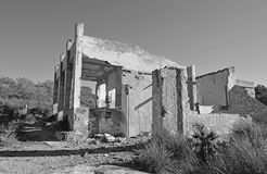 Bomb Site Old House In Black And white Monochrome Royalty Free Stock Images
