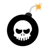 bomb with skull Royalty Free Stock Image