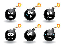 Bomb smileys ? Stock Images