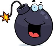Bomb Smiling. A cartoon bomb happy and smiling Royalty Free Stock Image