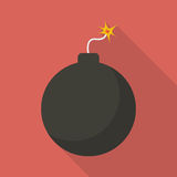 Bomb with sparkle Stock Images