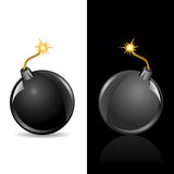 Bomb sphere Royalty Free Stock Images