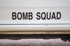 Bomb squad. For  explosive search and disposal Stock Images