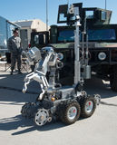 Bomb Squad Remote Controlled Robot. A county bomb squad remote controlled robot machine in Tucson, Arizona Royalty Free Stock Photos