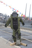 Bomb squad suit on display during Fleet Week 2014. NEW YORK - MAY 22 Bomb squad suit on display during Fleet Week 2014 on May 22, 2014 in New York Royalty Free Stock Photography