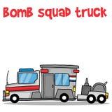 Bomb squad truck cartoon vector art Stock Photography