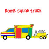 Bomb squad truck collection stock Stock Photo
