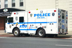 Bomb Squad. A bomb squad truck of the New York Police Department Stock Image