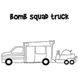 Bomb squad truck vector illustration Stock Photos