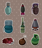Bomb stickers. Cartoon vector illustration Stock Photography