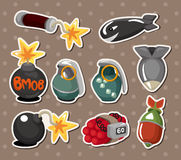 Bomb stickers Stock Photos