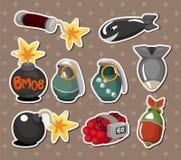 Bomb stickers Stock Photos