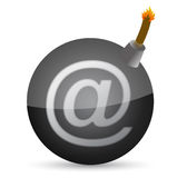 Bomb with at-symbol illustration design Stock Photography