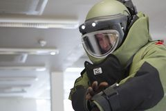 Bomb technician Stock Image