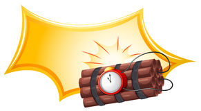 A bomb with a timer Stock Image