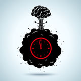 Bomb with a timer Royalty Free Stock Photos