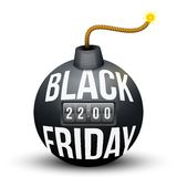 Bomb About To Blast with Black Friday sales tag. Stock Photos