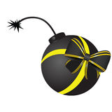 Bomb vector with bow Stock Photos