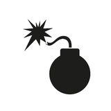 Bomb vector icon Royalty Free Stock Images