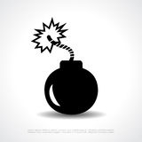 Bomb vector symbol Stock Photos