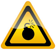 Bomb Warning Sign Royalty Free Stock Image