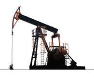 Bomba aislada del pozo de petróleo fotografía de archivo libre de regalías