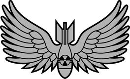 Bomba atómica con las alas Imagen de archivo libre de regalías