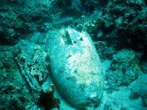 Bomba bajo la superficie del mar Imágenes de archivo libres de regalías