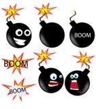 Bomba com fusível de queimadura sobre Imagens de Stock Royalty Free