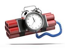Bomba con il temporizzatore dell'orologio Fotografie Stock