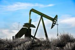 Bomba de aceite verde Fotografía de archivo