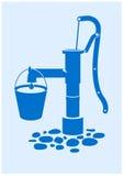 Bomba de agua stock de ilustración