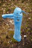 Bomba de agua antigua del manual-control Foto de archivo