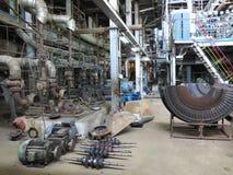 Bomba de agua del motor eléctrico bajo reparación en la central eléctrica imagen de archivo libre de regalías